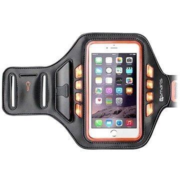 4smarts Jogger LED Käsivarsikotelo Urheilu 5.5 Musta / Oranssi