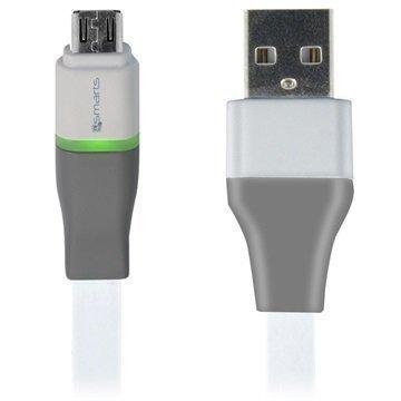4smarts PulseCord USB 2.0 / MicroUSB-Kaapeli Valkoinen