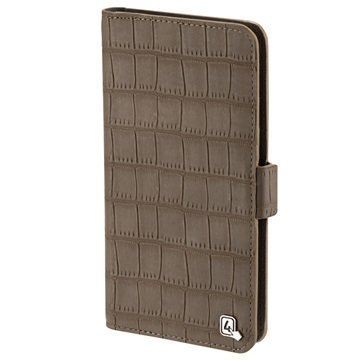 4smarts UltiMAG Book Norwalk Universal Wallet Case 5.8 Croco Brown