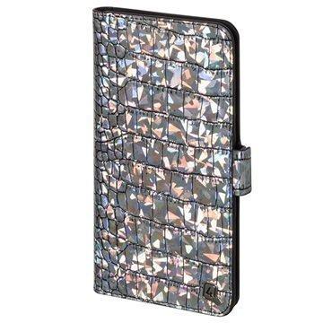 4smarts UltiMAG Book Norwalk Universal Wallet Case 5.8 Croco Silver