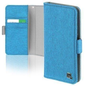 4smarts UltiMAG Laneway Fabric Yleismallinen Lompakkokotelo 5.8 Sininen
