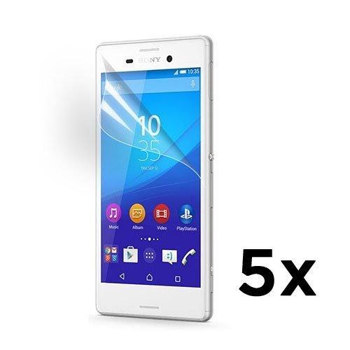 5 Kpl Näytön Suojakalvoja Sony Xperia M4 Aqua Puhelimelle.