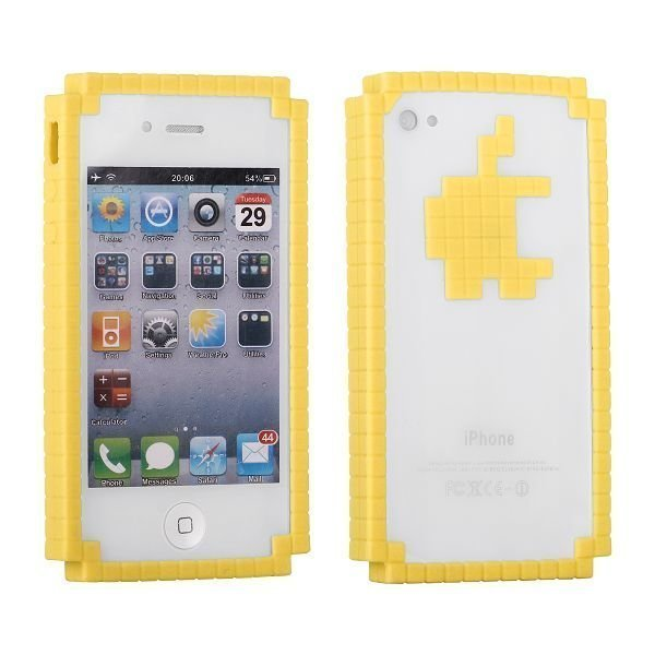 8-Bit Digital Logo Keltainen Iphone 4 / 4s Bumper
