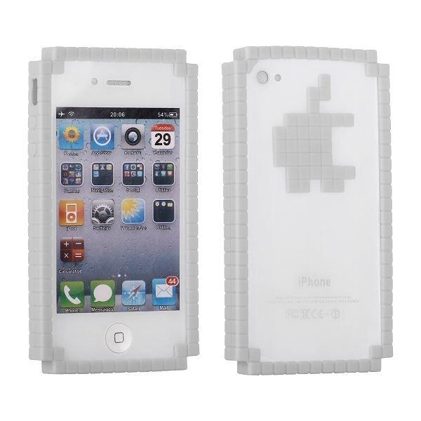 8-Bit Digital Logo Valkoinen Iphone 4 / 4s Bumper