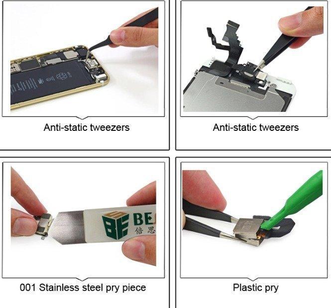 8 Osainen työkalusarja iPhonen korjaamiseen BST-609