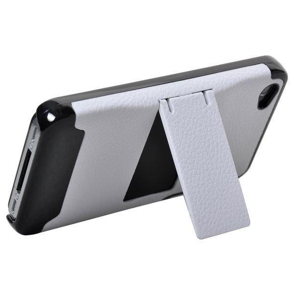 A-Type Stand Musta Reunus Valkoinen Iphone 4 Suojakuori