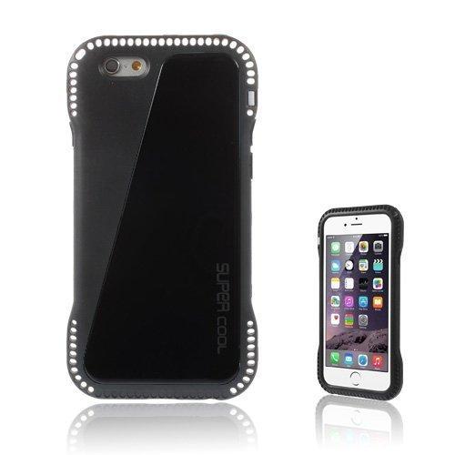 Aalto Musta Iphone 6 Nahkapäällysteinen Suojakuori