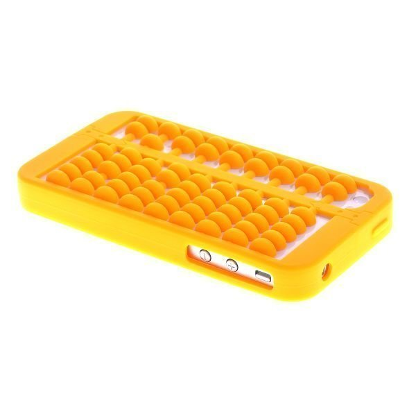 Abacus Keltainen Iphone 4 / 4s Silikonikuori
