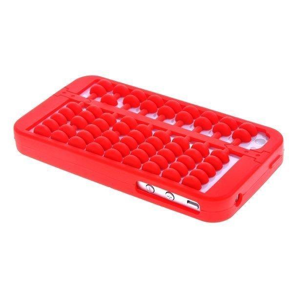 Abacus Punainen Iphone 4 / 4s Silikonikuori