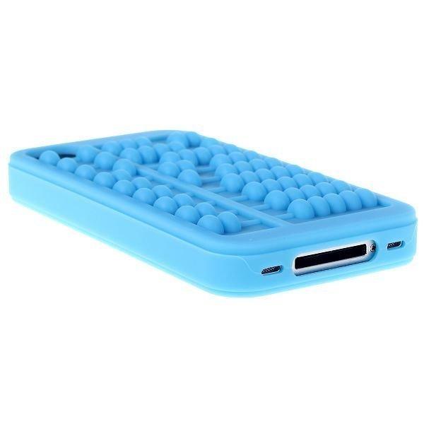 Abacus Vaaleansininen Iphone 4 / 4s Silikonikuori