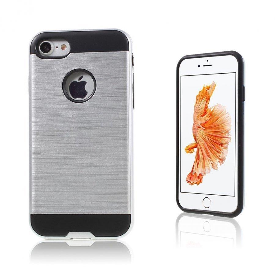 Absalon Iphone 7 Harjattu Joustava Muovikuori Hopea