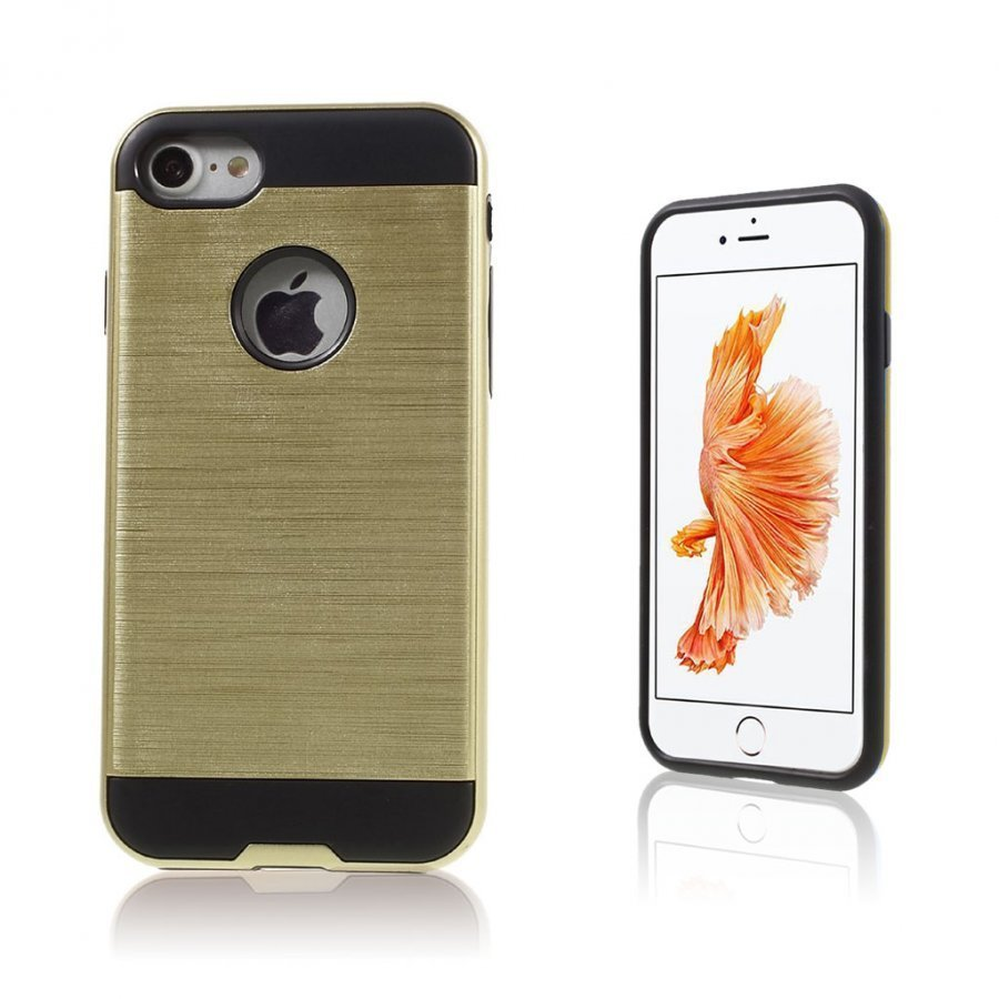 Absalon Iphone 7 Harjattu Joustava Muovikuori Kulta