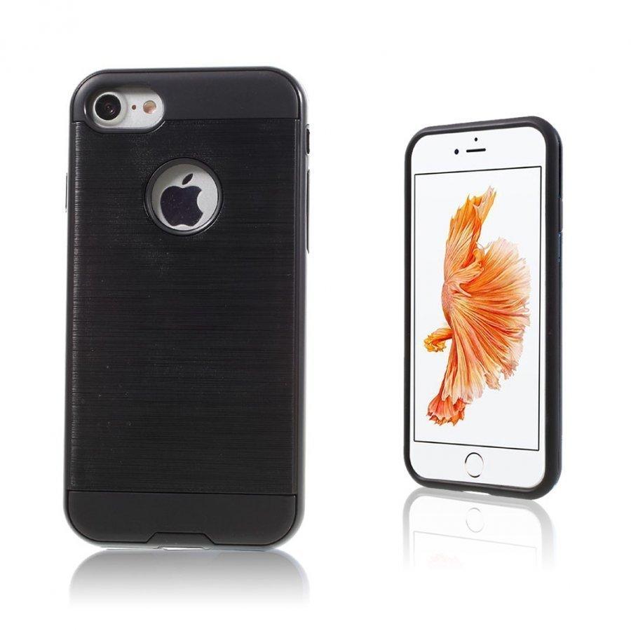Absalon Iphone 7 Harjattu Joustava Muovikuori Musta
