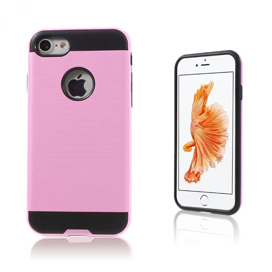 Absalon Iphone 7 Harjattu Joustava Muovikuori Pinkki
