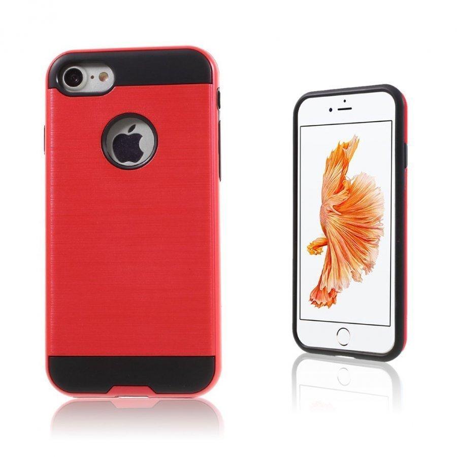 Absalon Iphone 7 Harjattu Joustava Muovikuori Punainen