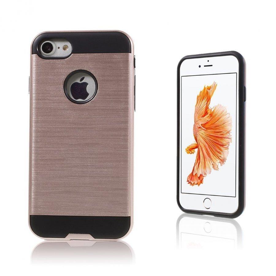 Absalon Iphone 7 Harjattu Joustava Muovikuori Rosee Kulta