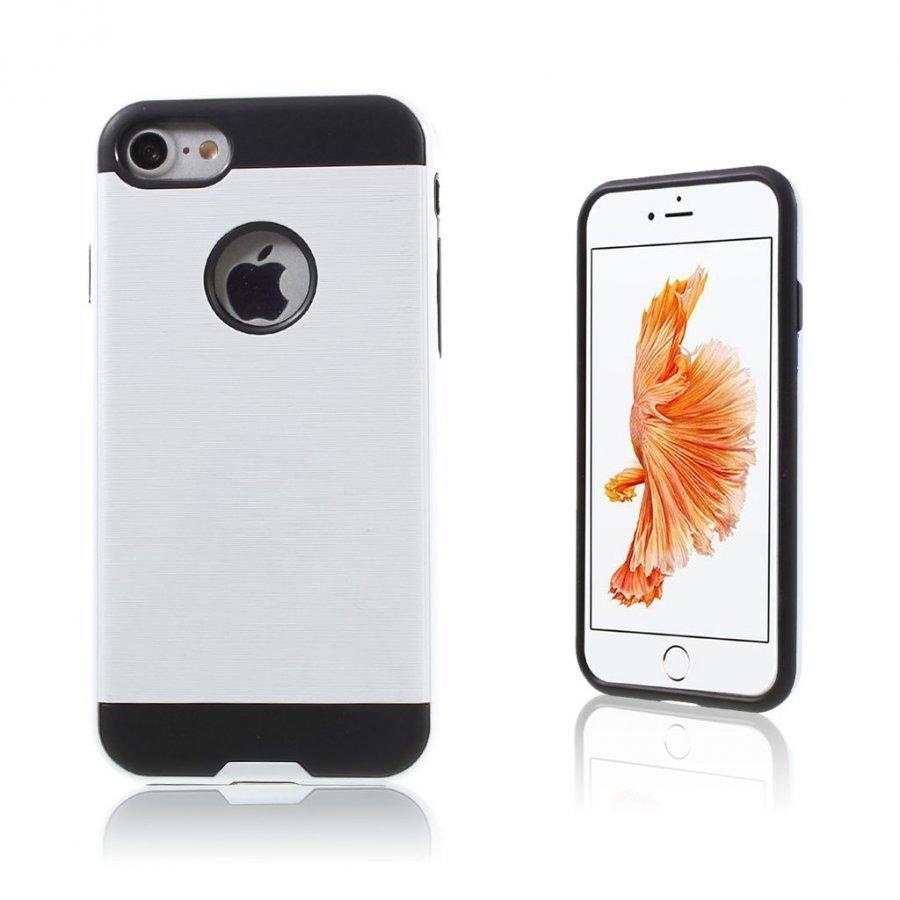Absalon Iphone 7 Harjattu Joustava Muovikuori Valkoinen