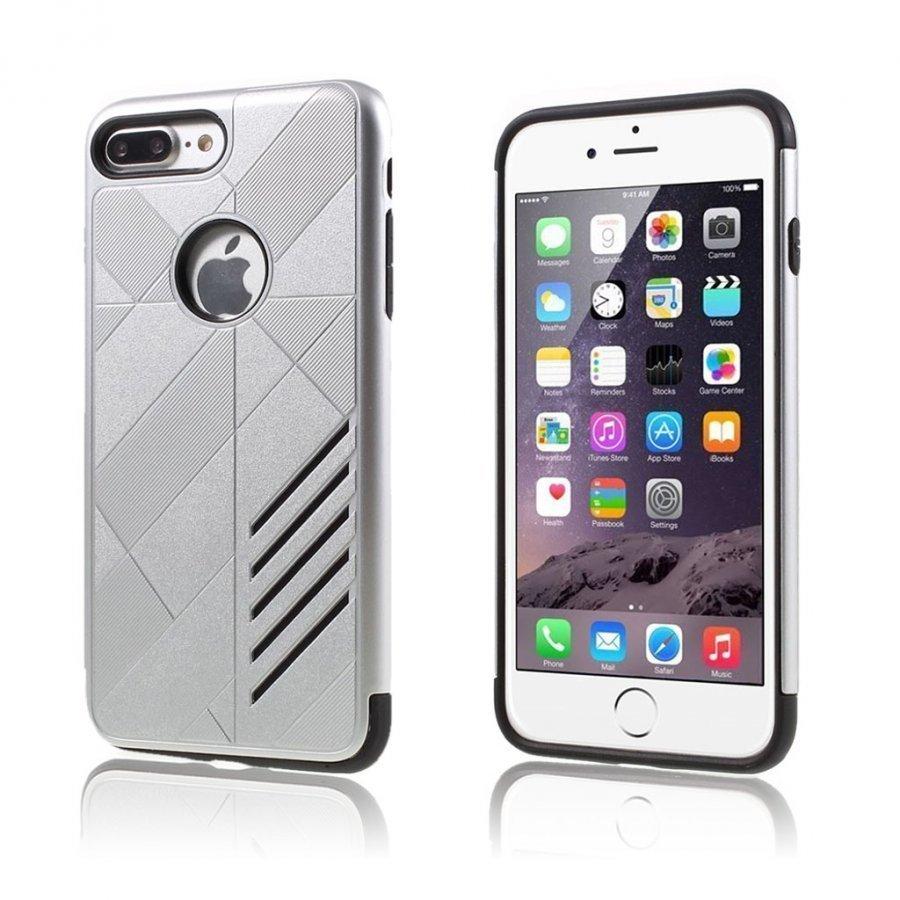 Absalon Iphone 7 Plus Joustava Hybridi Kuori Hopea