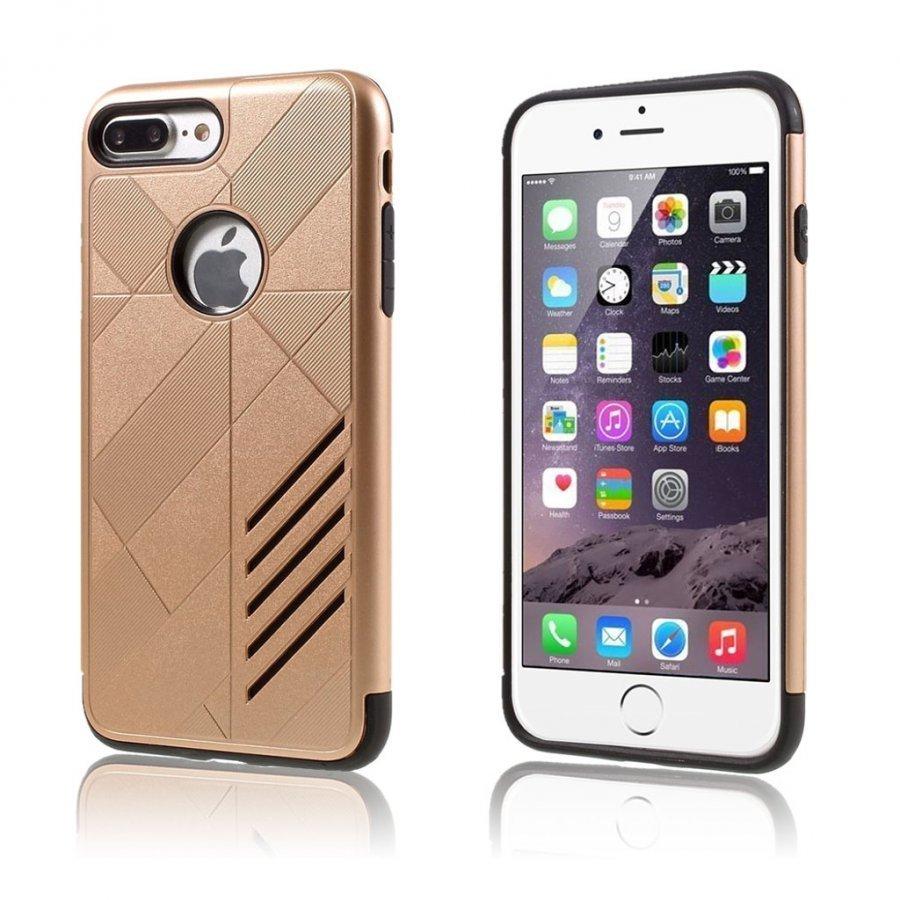 Absalon Iphone 7 Plus Joustava Hybridi Kuori Kulta