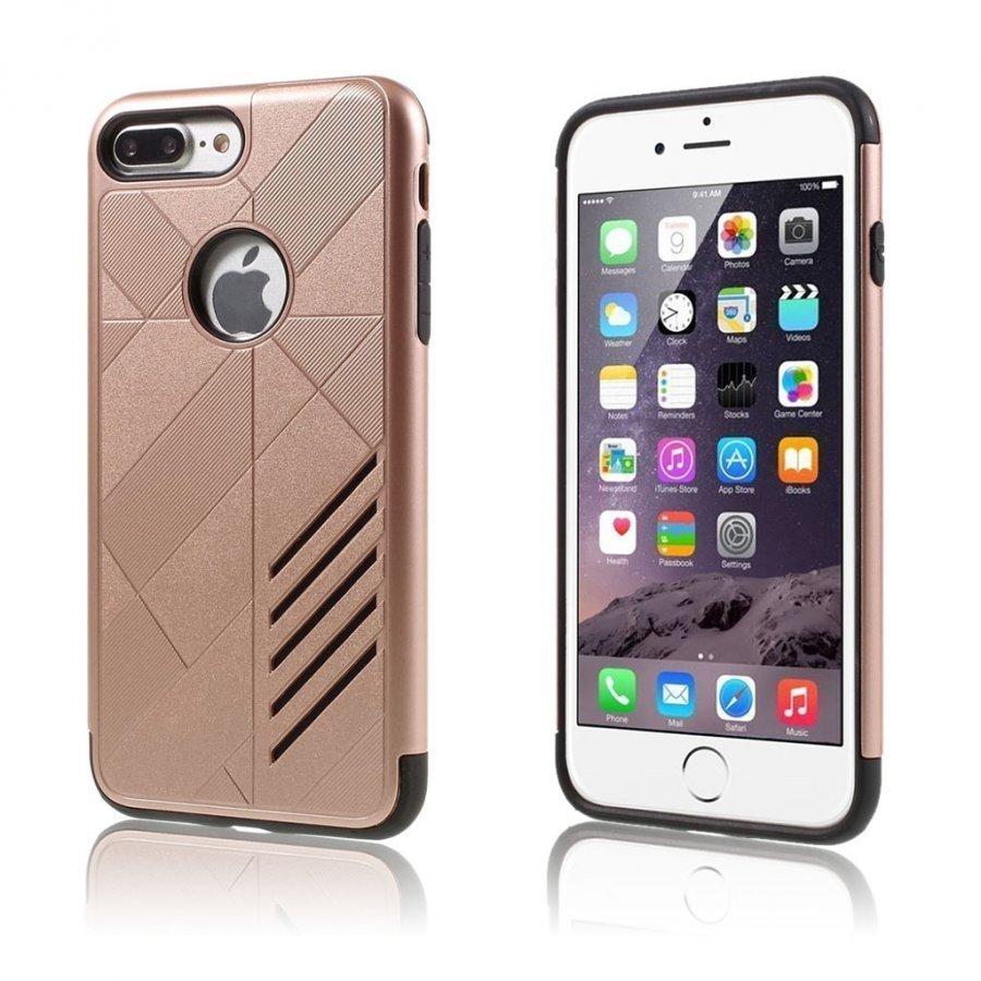 Absalon Iphone 7 Plus Joustava Hybridi Kuori Rosee Kulta