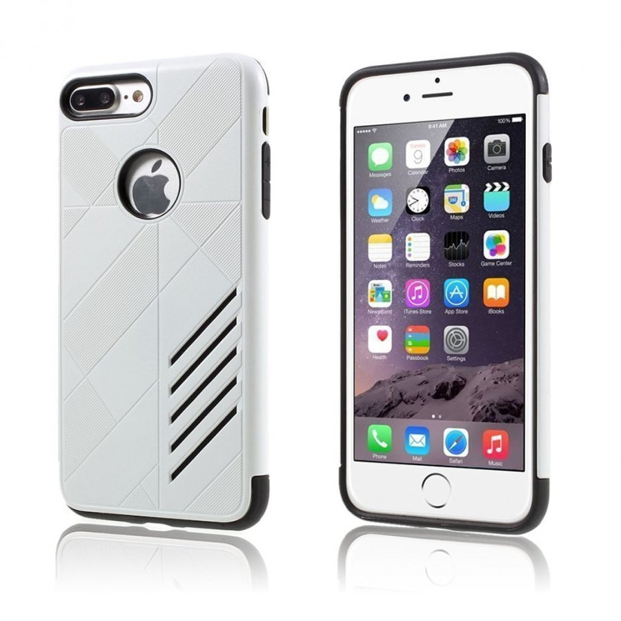 Absalon Iphone 7 Plus Joustava Hybridi Kuori Valkoinen