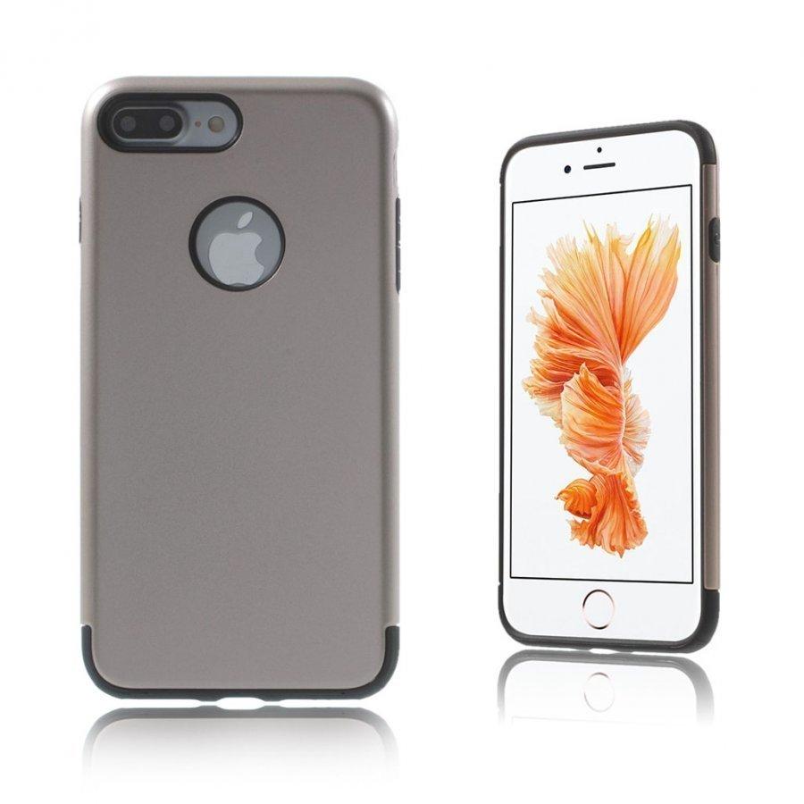 Absalon Iphone 7 Plus Joustava Hybridi Panssari Kuori Harmaa