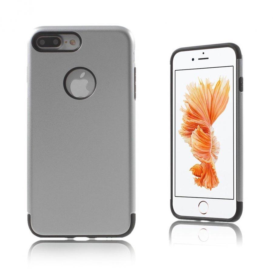 Absalon Iphone 7 Plus Joustava Hybridi Panssari Kuori Hopea