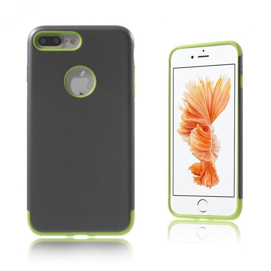 Absalon Iphone 7 Plus Joustava Hybridi Panssari Kuori Vihreä