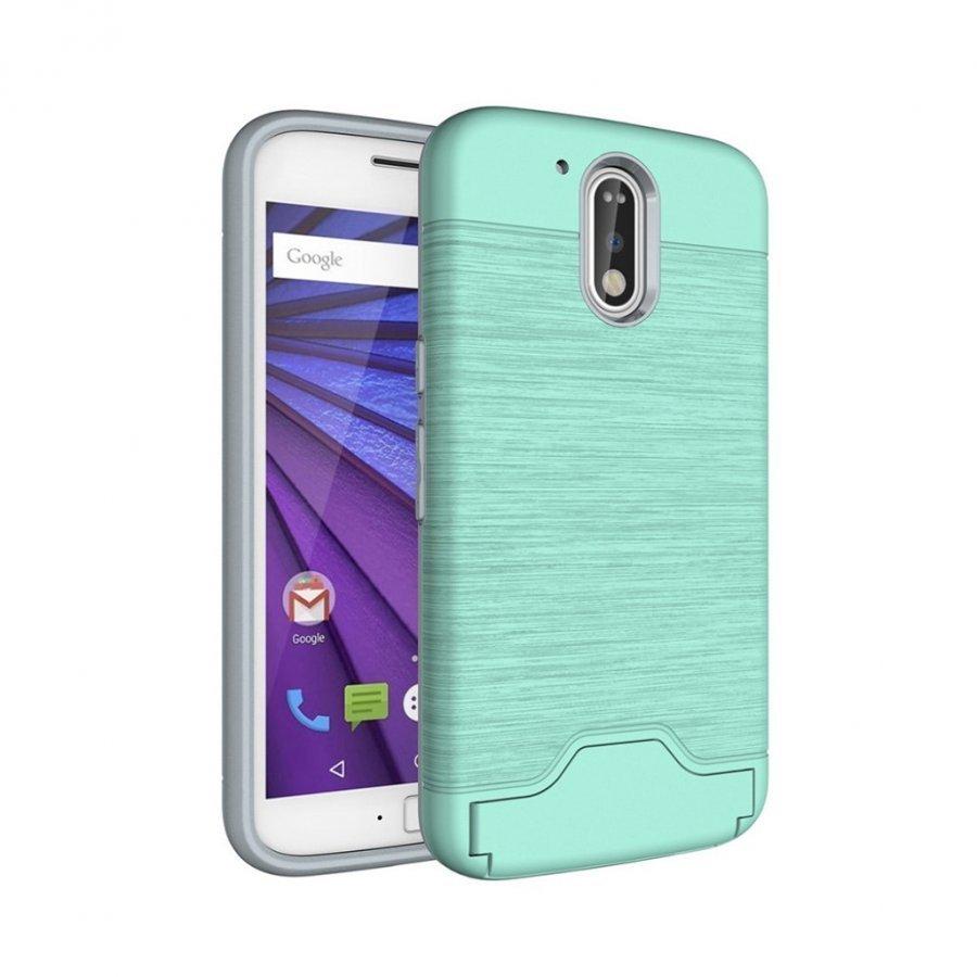 Absalon Motorola Moto G4 / G4 Plus Harjattu Joustava Muovikuori Syaani