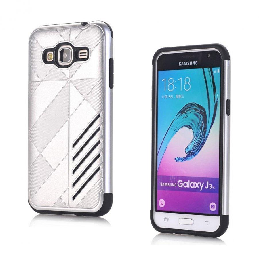 Absalon Samsung Galaxy J3 2016 Joustava Muovikuori Hopea