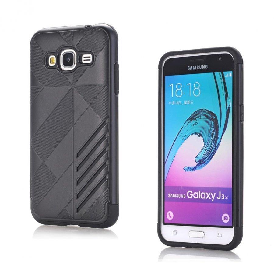 Absalon Samsung Galaxy J3 2016 Joustava Muovikuori Musta