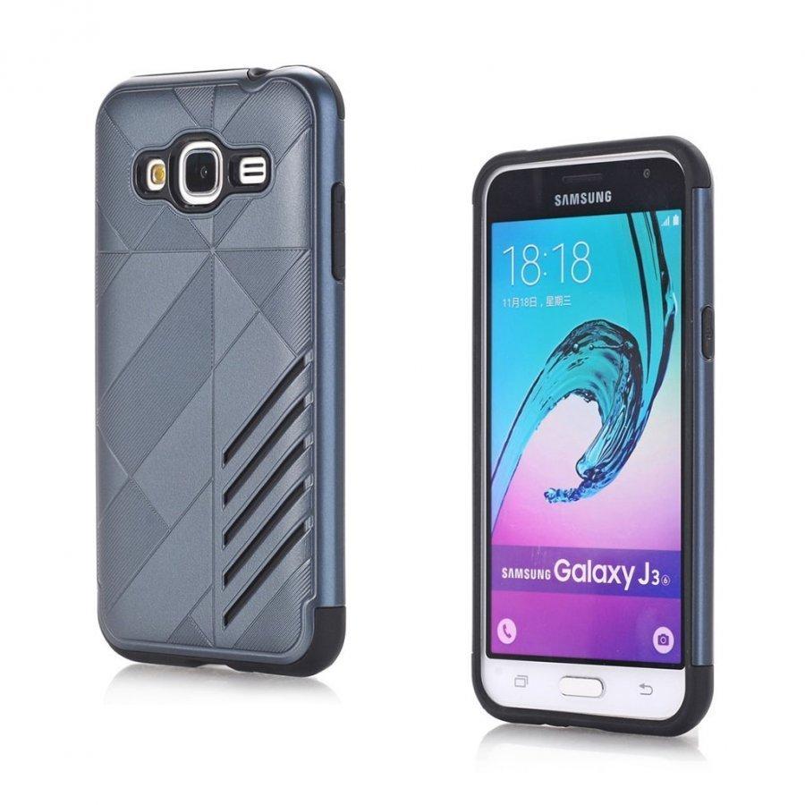 Absalon Samsung Galaxy J3 2016 Joustava Muovikuori Tummansininen