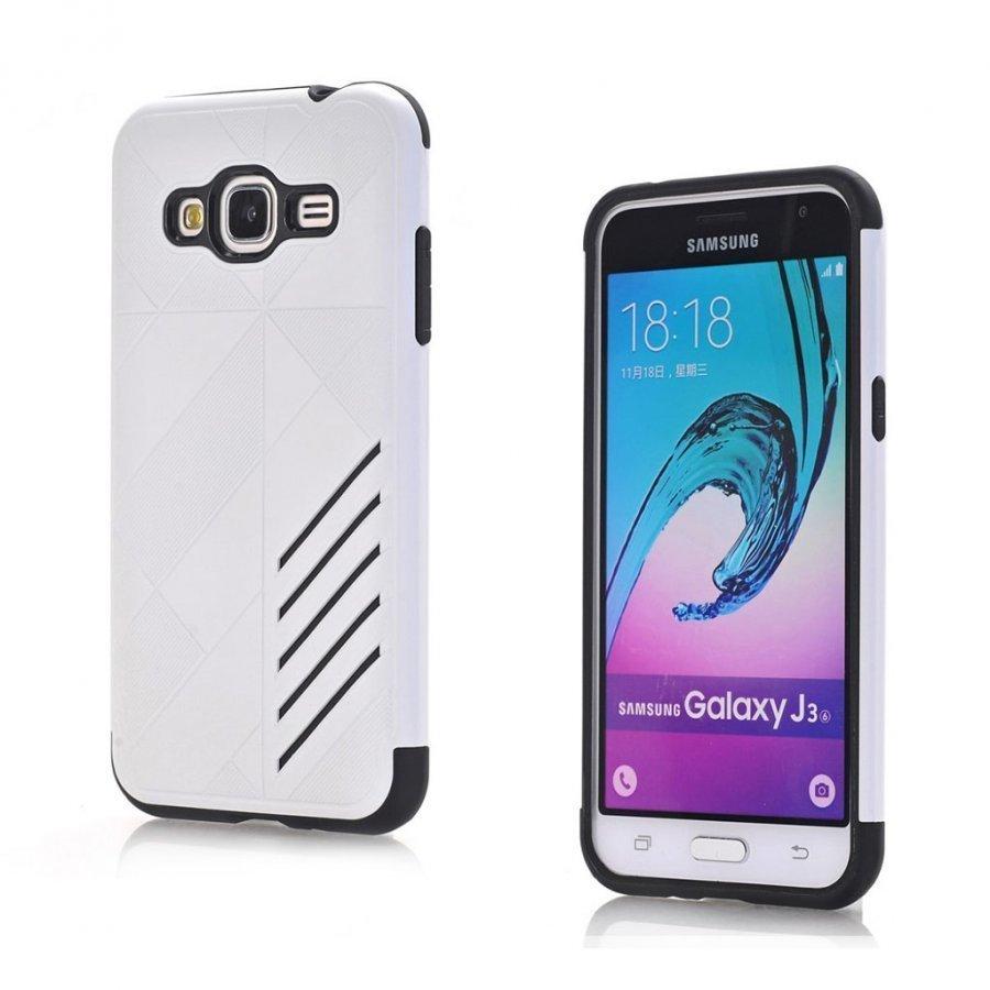 Absalon Samsung Galaxy J3 2016 Joustava Muovikuori Valkoinen