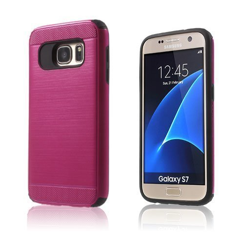 Absalon Samsung Galaxy S7 Hybridi Kuori Kuuma Pinkki
