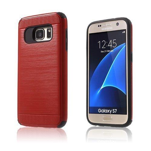Absalon Samsung Galaxy S7 Hybridi Kuori Punainen