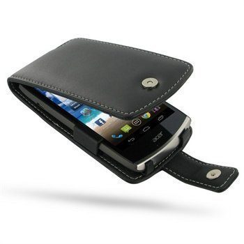 Acer CloudMobile PDair Leather Case 3BACS5F41 Musta