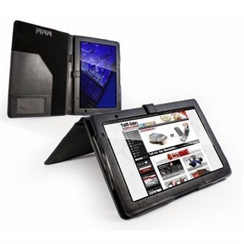 Acer Iconia Tab A500 Tuff-Luv Book Style Leather Case Black