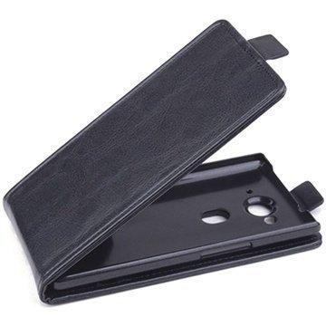 Acer Liquid E3 Pystysuuntainen Nahkainen Läppäkotelo Musta