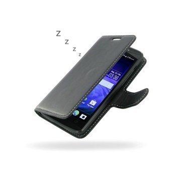 Acer Liquid E700 PDair Deluxe Book Type Nahkakotelo Musta