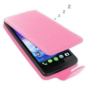 Acer Liquid E700 PDair Deluxe Nahkainen Läppäkotelo Pinkki