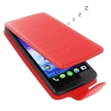 Acer Liquid E700 PDair Deluxe Nahkainen Läppäkotelo Punainen