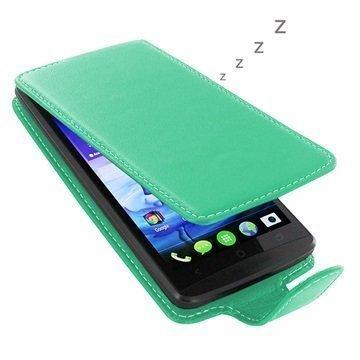 Acer Liquid E700 PDair Deluxe Nahkainen Läppäkotelo Turkoosi