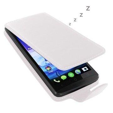 Acer Liquid E700 PDair Deluxe Nahkainen Läppäkotelo Valkoinen