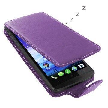 Acer Liquid E700 PDair Deluxe Nahkainen Läppäkotelo Violetti