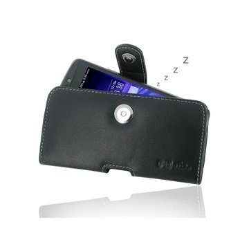 Acer Liquid E700 PDair Vaakasuuntainen Nahkakotelo Musta
