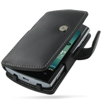 Acer Liquid Metal PDair Leather Case 3BACMLB41 Musta
