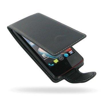 Acer Liquid Z4 PDair Deluxe Nahkainen Läppäkotelo Musta