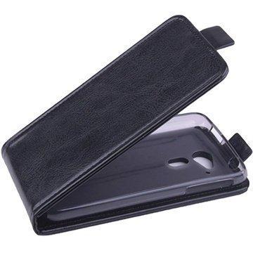 Acer Liquid Z4 Pystysuuntainen Nahkainen Läppäkotelo Musta
