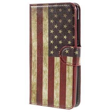 Acer Liquid Z520 Lompakkokotelo Vintage American Flag