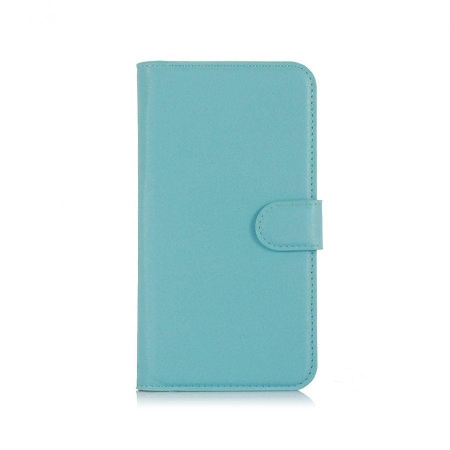 Acer Liquid Z630 Litsi Pintainen Nahkakotelo Korttitaskuilla Sininen